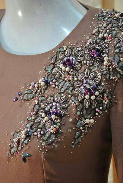 Patch lace ...add on beads and sequin | Beadwork ...