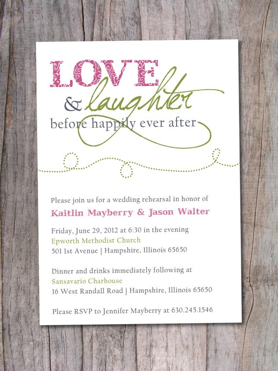 78 best wedding rehearsal dinner invitations images on pinterest rehearsal dinner invitation happily ever after love and laughter before happily ever after is exactly what i want on my wedding day stopboris Gallery