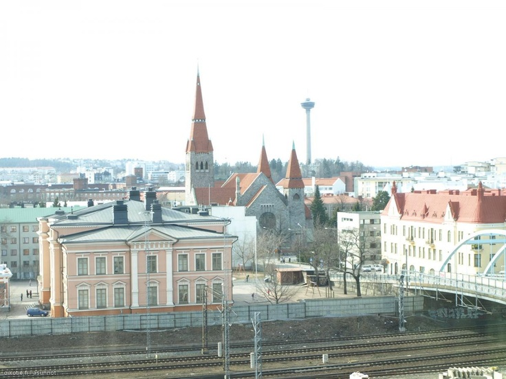 My daughters school in Tampere - the School and church in Finland