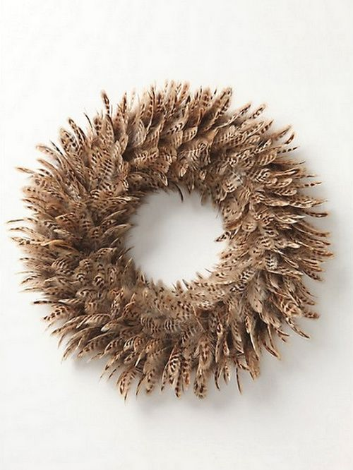 25  best ideas about feather wreath on pinterest