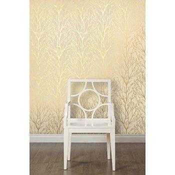 I Love Wallpaper™ Shimmer Wallpaper Metallic Gold / Cream - I Love Wallpaper™ from I love wallpaper UK