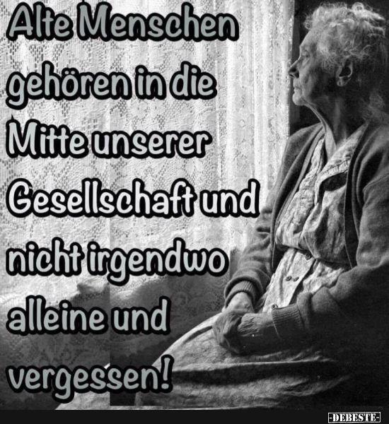 Alte Menschen gehören in die Mitte unserer Gesellschaft