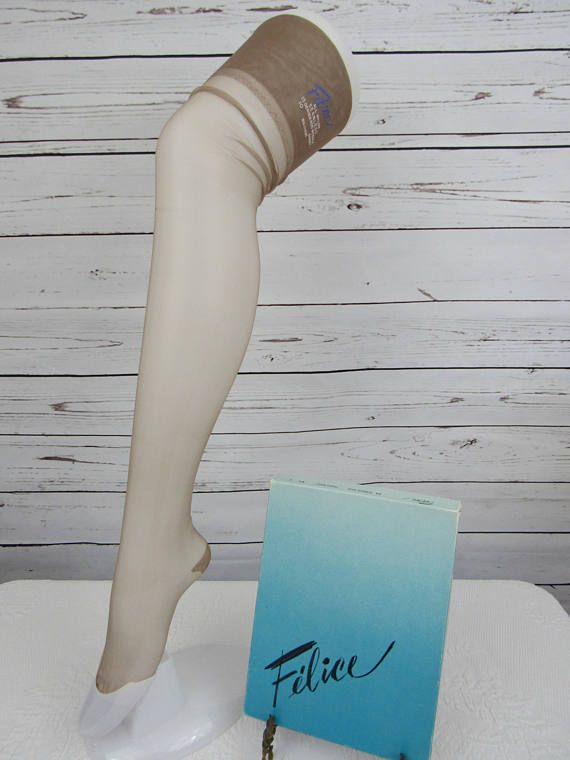 Pair Unused Vintage Nylon Stockings FRENCH RUSSET Color Felice