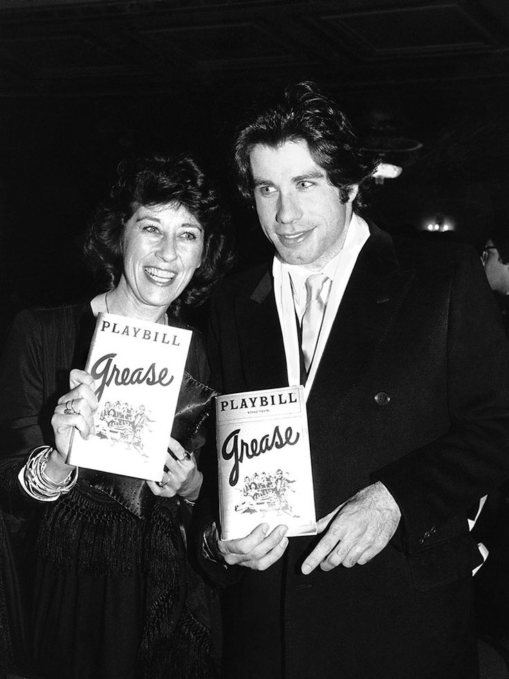 John Travolta at 18 with his sister, Ellen, at the Royale Theatre in New York at the musical Grease—which he would go on to star in on Broadway and the big screen.1972