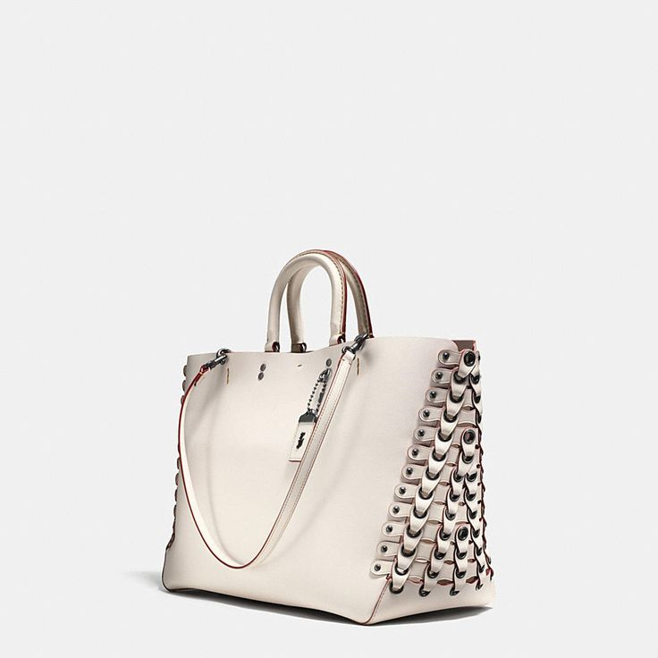Shop The COACH Rogue Tote With Link Leather Detail In Glove Calf. Enjoy Complimentary Shipping & Returns! Find Designer Bags, Wallets, Shoes & More At COACH.com!