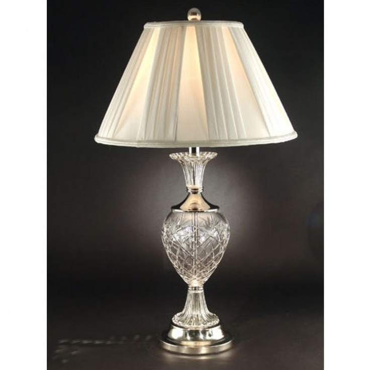 Dale Tiffany Lamps Yorktown Crystal Table Lamp In Brushed