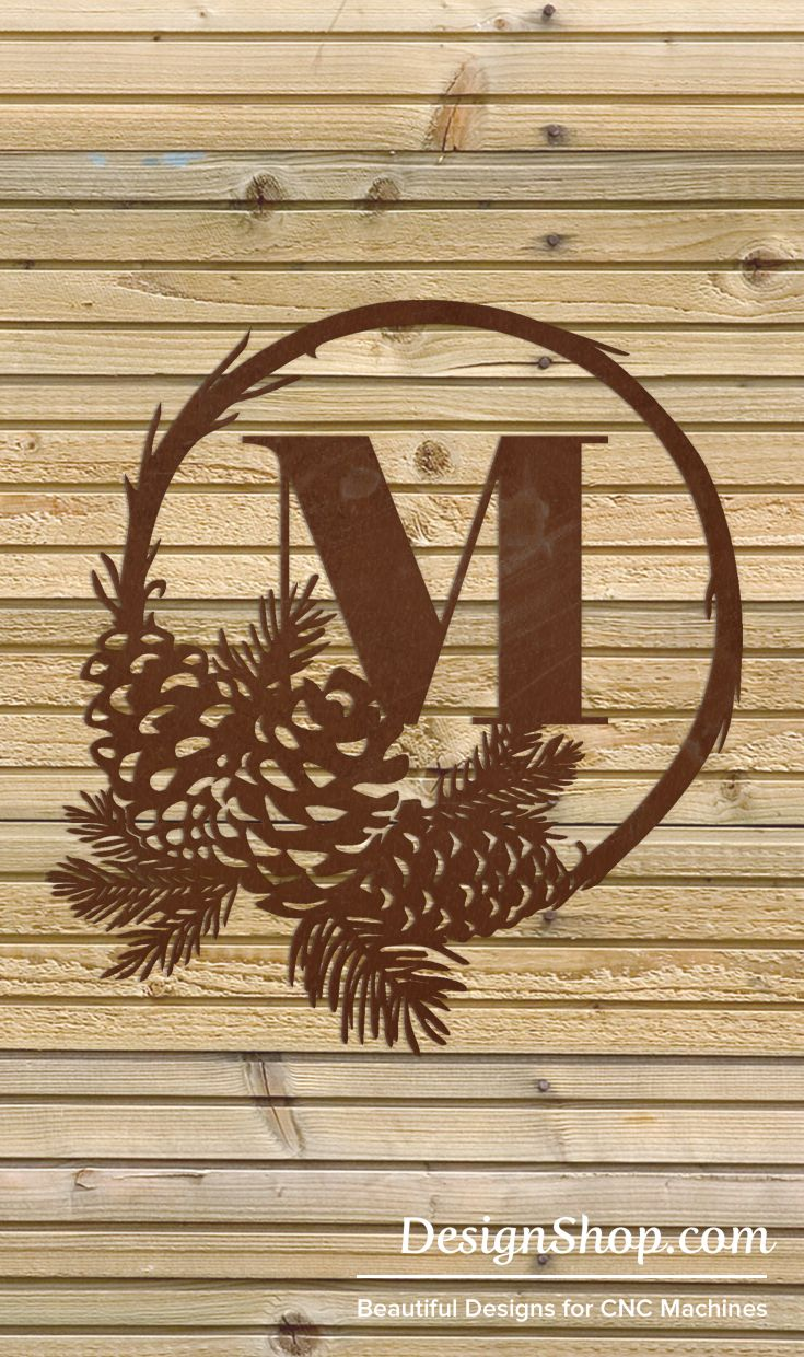 Monogram Wall Art - Cut from metal with CNC. This DXF file is designed for CNC Plasma, Laser, or waterjet machines.