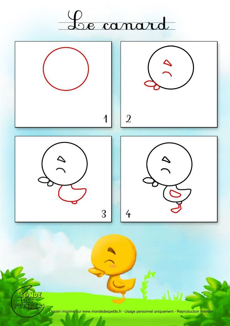 Dessin1_Comment dessiner un petit canard ?