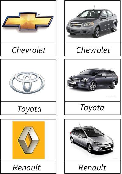 Sortera bilar efter märke -beställning