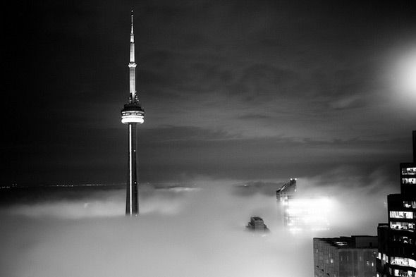 Photo by Erik Mauer - Toronto in the Clouds