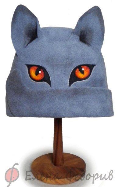"""Персональные подарки ручной работы. Ярмарка Мастеров - ручная работа Шапка для бани """"Британский голубой кот"""". Handmade."""