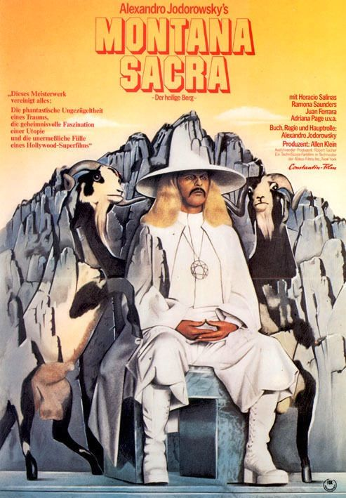 German Poster for The Holy Mountain (Alejandro Jodorowsky, 1973)