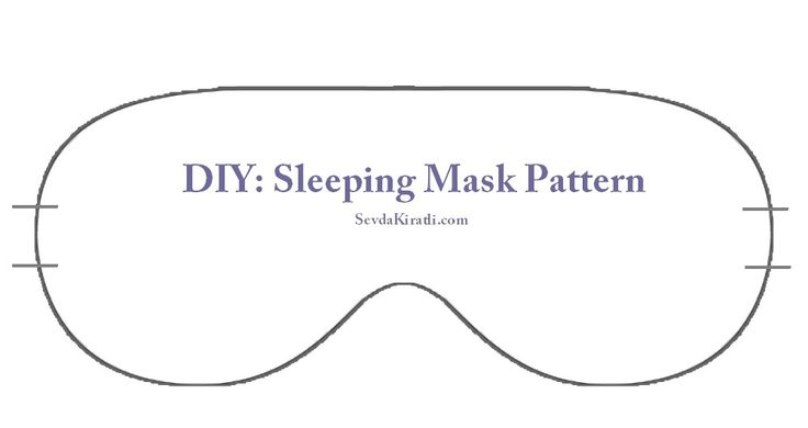 sleep-mask-printable-template | Sewing projects