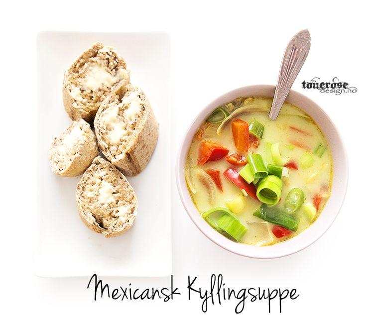 mexicansk kyllingsuppe oppskrift tips middag