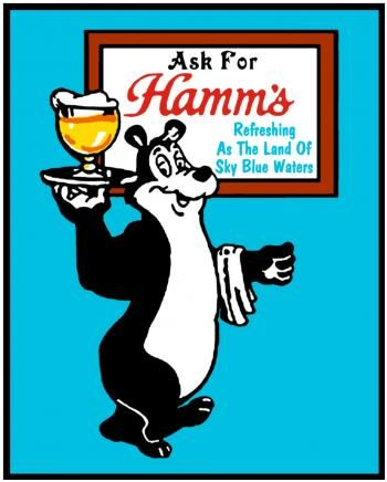 images Hamms | Image of Hamm's Beer Tee Shirt Transfer - Bear Serving