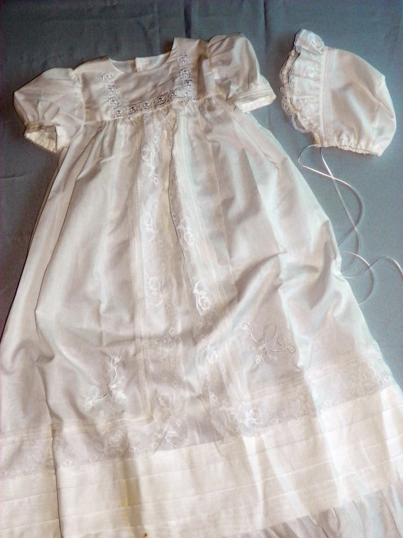 Beautiful Christening Gown By Ragamuffinsdesigns On Etsy