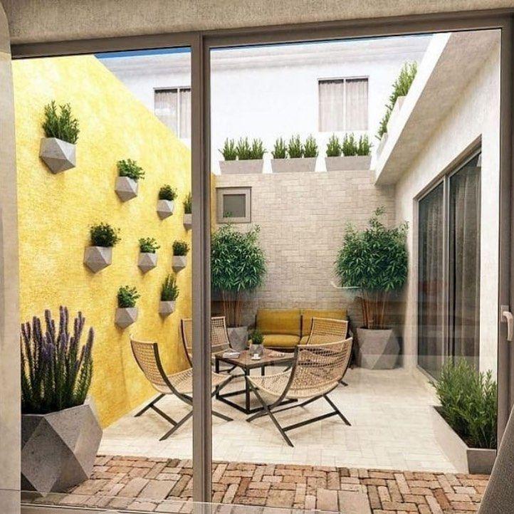 Balcony Decor Patio Interior Courtyard Design Patio
