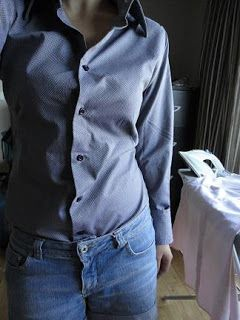 Shows how to alter a mens shirt to fit a woman. May be really helpful, because I often have issues finding certain styles of button downs in women's department. Mens shirts are also cheaper!