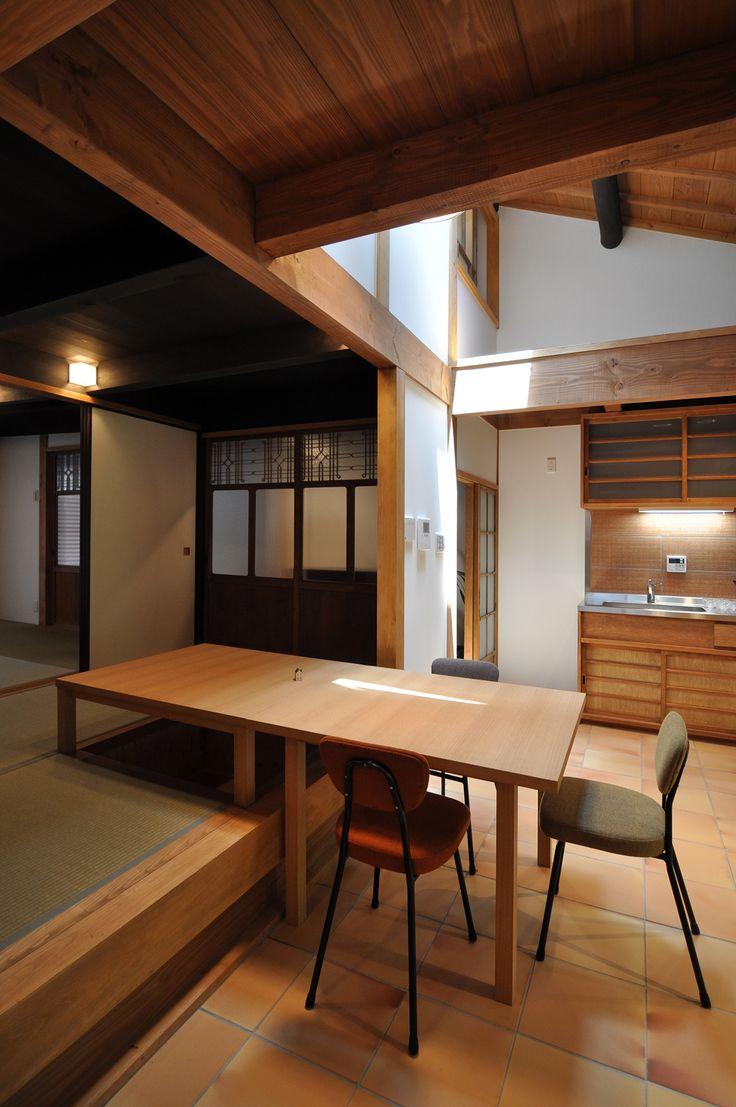 空中坪庭のある京町家