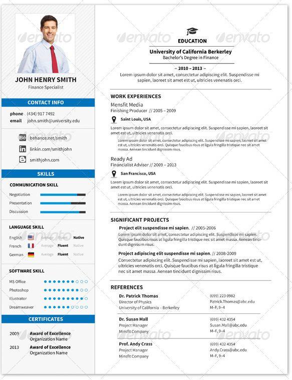 Mejores 35 imágenes de El Currículum Vitae CV en Pinterest | Cv ...