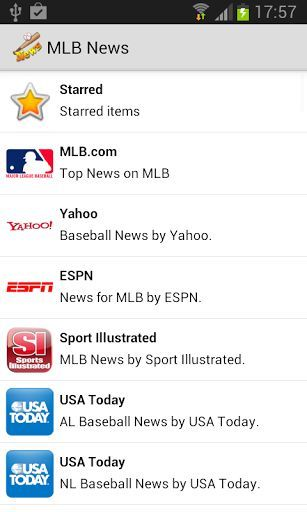 Do you want always stay update with the latest News on MLB??<br>MLBNews is the application that keeps you updated on Major League Baseball, giving you the latest news on matches, divisions, transfers, teams and players.<p>- News from major newspaper: Yahoo, Bleacher Report, CBS Sport, Sport Illustrated, Usa Today, ESPN, NHL.com.<p>- All the Teams from all the divisions!!!<br>  -> AL East: Baltimore Orioles, Boston Red Sox, New York Yankees, Tampa Bay Rays, Toronto Blue Jays<br>  -> AL…