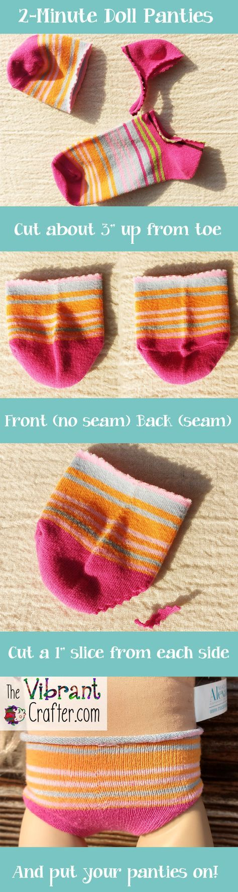 Easy Free Doll Panties Tutorial