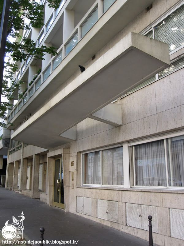 Paris 16ème - Immeuble rue des Belles-Feuilles  Architectes: Jean Ginsberg…
