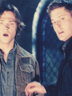 "[GIF] This has always been one of my favorite moments. That moment where they both grab for the other and then, ""Sam"", ""Dean""."