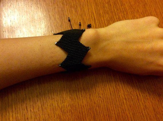 Black Zig Zag Macrame bracelet