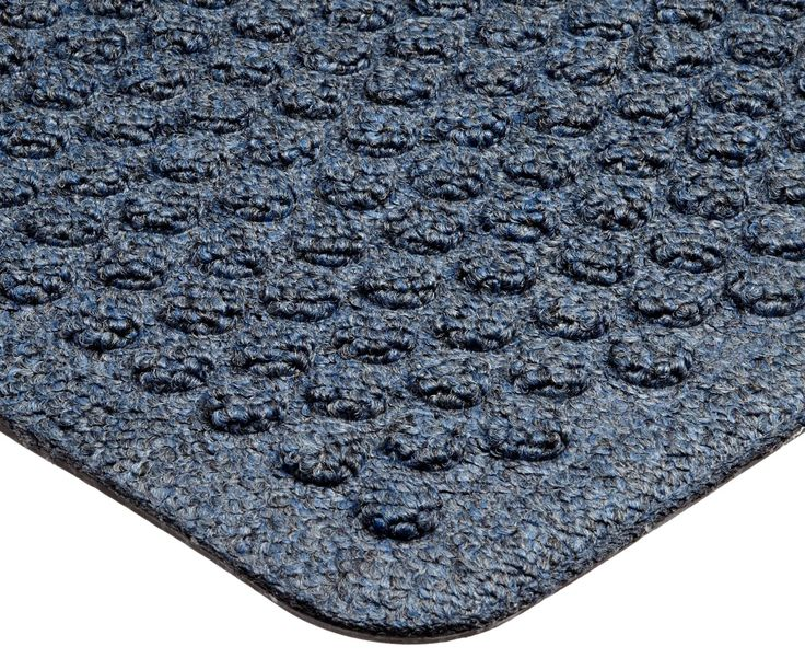 "Notrax 150 Aqua Trap Entrance Mat, for Main Entranceways and Heavy Traffic Areas, 4' Width x 6' Length x 3/8"" Thickness, Slate Blue"