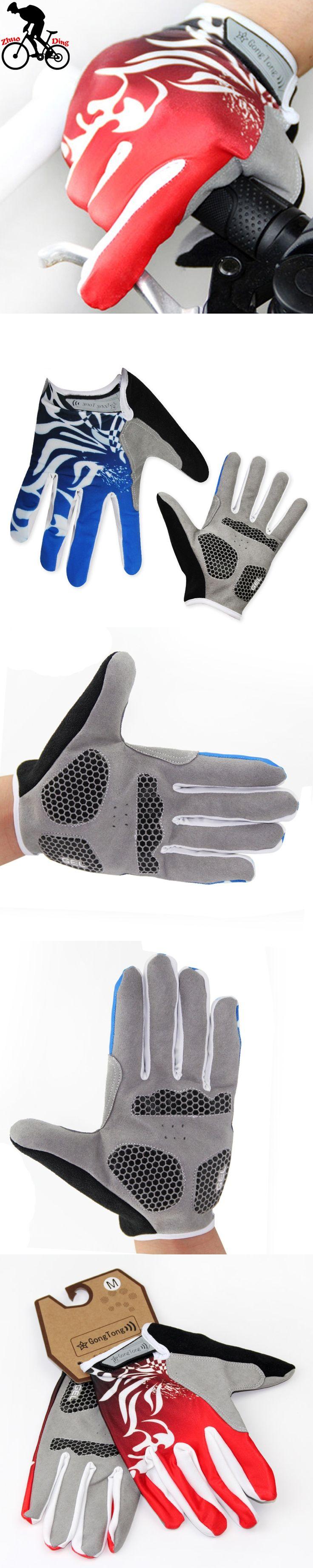 zhuoding Bike Glove Full Finger  Bike Cycling Gloves Man Women Long Mountain Biking Gloves Motorcycle Gloves