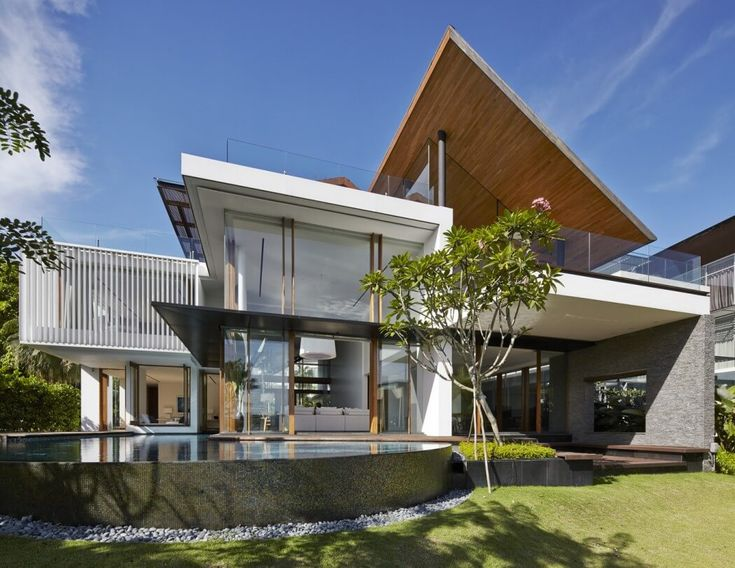 Contemporary private residence located in singapore designed by robert greg shand architects