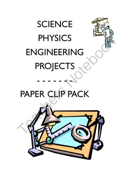 Physics Science Experiments STEM PACK - 3 paper clips projects labs from Velerion Damarke on TeachersNotebook.com -  (3 pages)  - Can't get enough of the paper clips labs? Let's face it, most of us have a tons of these in our desks, and science projects with them are fun! Get all 3 labs with this pack, including: paper clip chains, paper clip towers, and paper clip mini ma