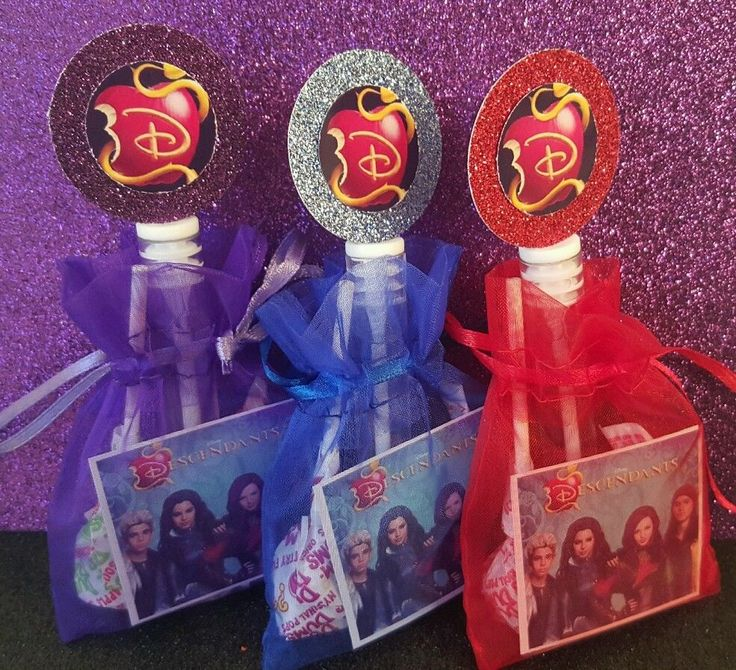 12 Disney Descendants Halloween Party Favor Bags Sticker Treat Costume Birthday #PartyDaddy #Halloween