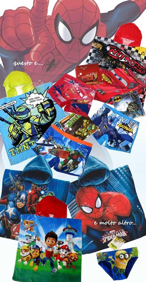 Costumi da bagno bambino! Per i nostri Bambini si rinnova l'appuntamento con l'amatissimo Saetta McQueen di Cars con Poncho Mare e costumino da bagno! Le simpaticcisime Tartarughe Ninja con i Boxer mare ed i Ponchi da spiaggia, i Minions, Ryder di Paw Patrol, SpiderMan e gli Avengers! #costumi #dabagno #bambino #bimbo http://www.atyintimoonline.it/167-costumi-da-bagno-bimbo-e-bimba