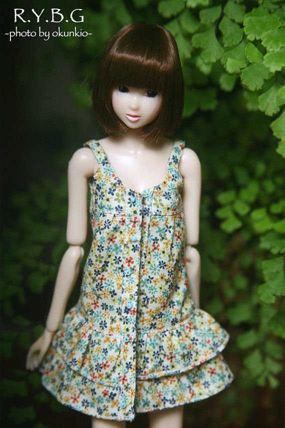♥ Can make for Momoko Blythe Nippon Misaki. Please tell me, which size you want.    Thank you!      colored little flowered layered dress  This is own