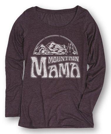 Love this Heather Purple 'Mountain Mama' Long-Sleeve Tee on #zulily! #zulilyfinds