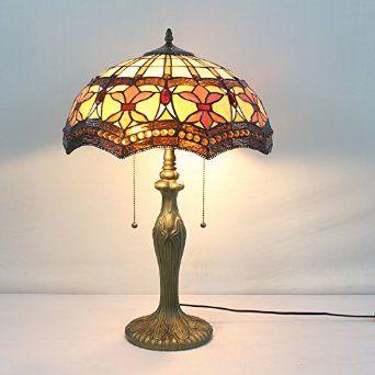 16 Inch Baroque Vintage Pastoral Luxury European Tiffany Table Lamp Desk  Lamp Bedside Lamp