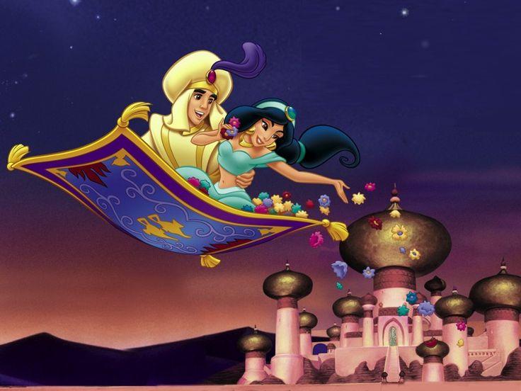 Aladdin et Jasmine sur le Tapis volant