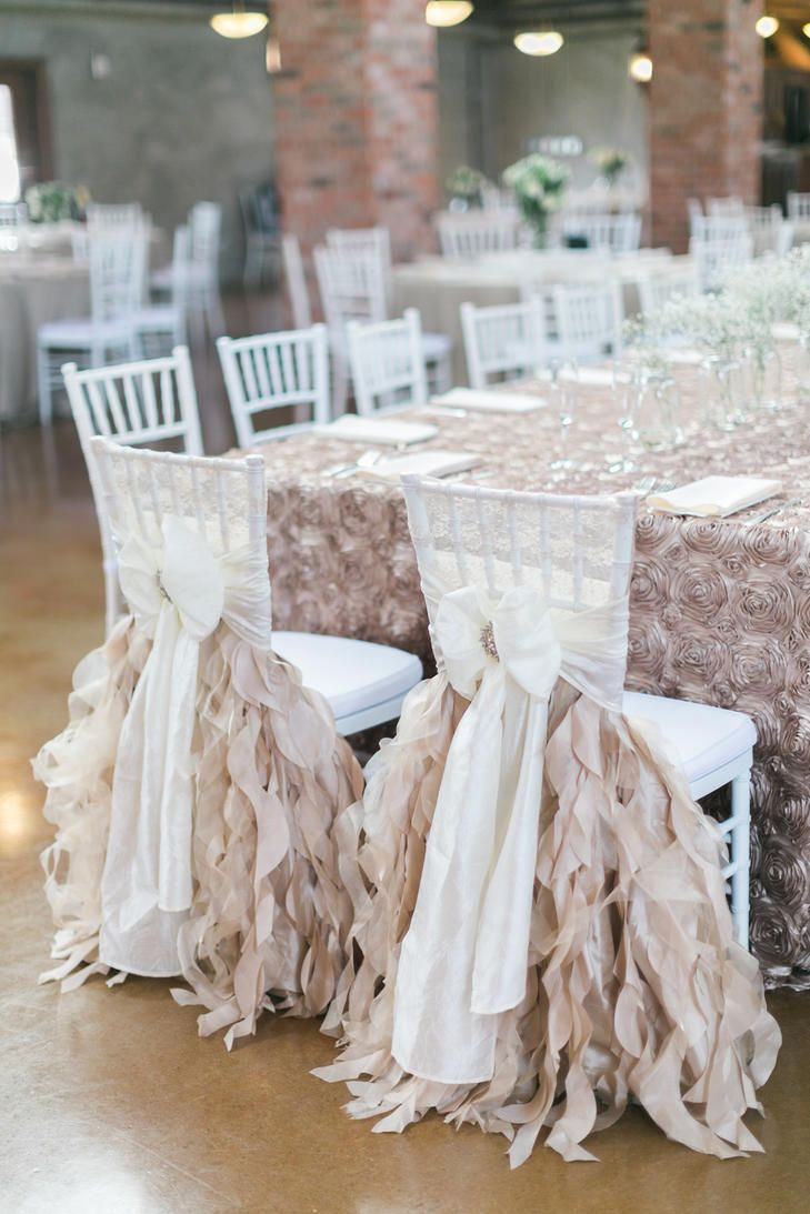 Captivating Bride And Groom Reception Chairs Ribbon Decorations | KORIE LYNN  PHOTOGRAPHY | EVENTS TO REMEMBER |