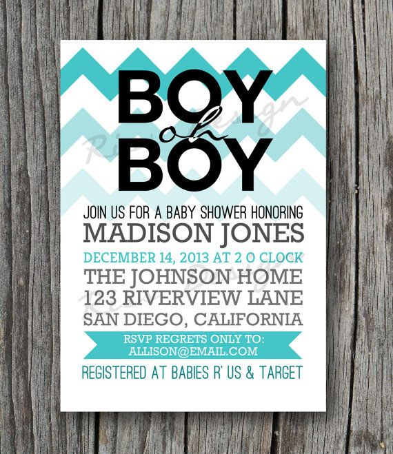 232 best images about invitations on pinterest | sip and see, Baby shower invitations