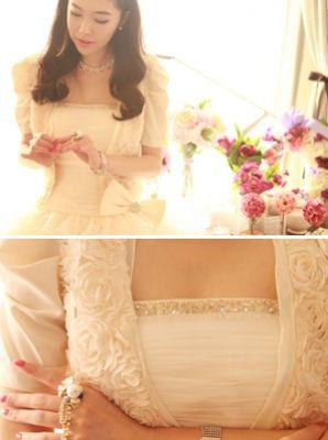 Korea feminine clothing Store [SOIR] #koreafashionshop #Fashionwomen  #korea #dailylook #dailyfashion #dress #top #skirt #pants #innerwear #bridemaid #honeymoon #partylook #leggings #homewear #koreafashion #clothes #Partylook #party装 #バーティールックス Rose Bolero / Size : M / Price : 54.62 USD