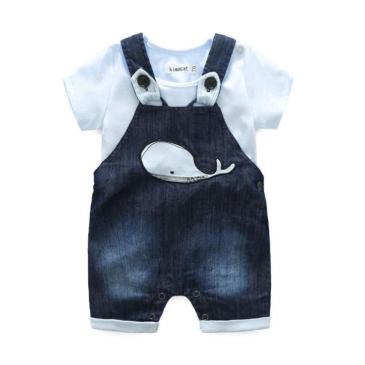 Newborn Baby Boy Clothes Set Short Sleeve Romper Jumpsuit Summer Shirt Outfits