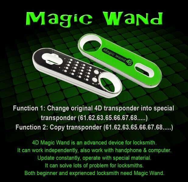 Magic Wand 4c 4d Transponder Chip Generator With Magic Wand 4c 4d