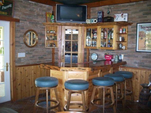Rustic Man Cave/Bar | Home Bar | Pinterest