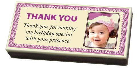 Birthdays are fun occasion. Gift all your guests a beautiful and personalized birthday return gift in the form of printed chocolates. We are sure your guest will simply love the idea. All our chocolates are custom made with the finest premium ingredients and can be crafted as per your exact requirements.  http://www.chococraft.in/pages/birthday-gifts