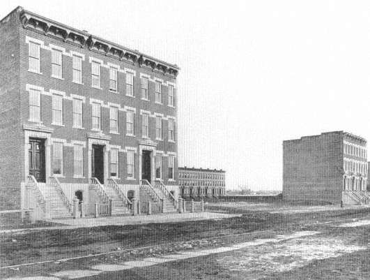 24. West 133rd Street, New York, ca. 1877. Like today's suburban fringes, speculators' housing took up broken parcels of land at the city's ...