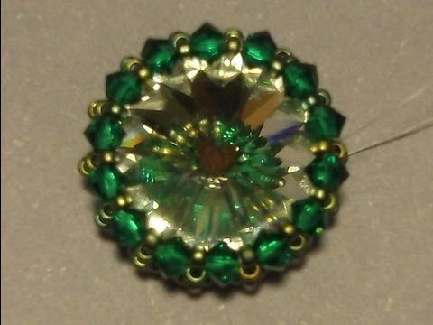 video: Sidonia's handmade jewelry - How to bezel a 16mm rivoli (bicone crystals & seed beads)