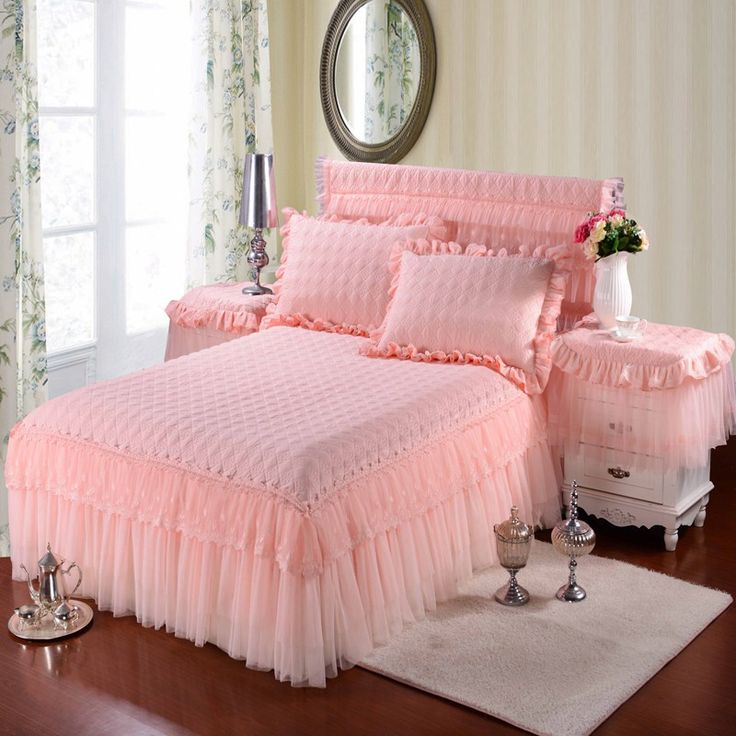 100% Cotton Princess Lace Bedding set Bed skirt Pillowcases Pink Bege King/Queen/Full size 3Pcs Bedsheet For Girl Gifts 3 HTB1uDqQPXXXXXcjXXXXq6xXFXXXf HTB1uDqQPXXXXXcjXXXXq6xXFXXXf
