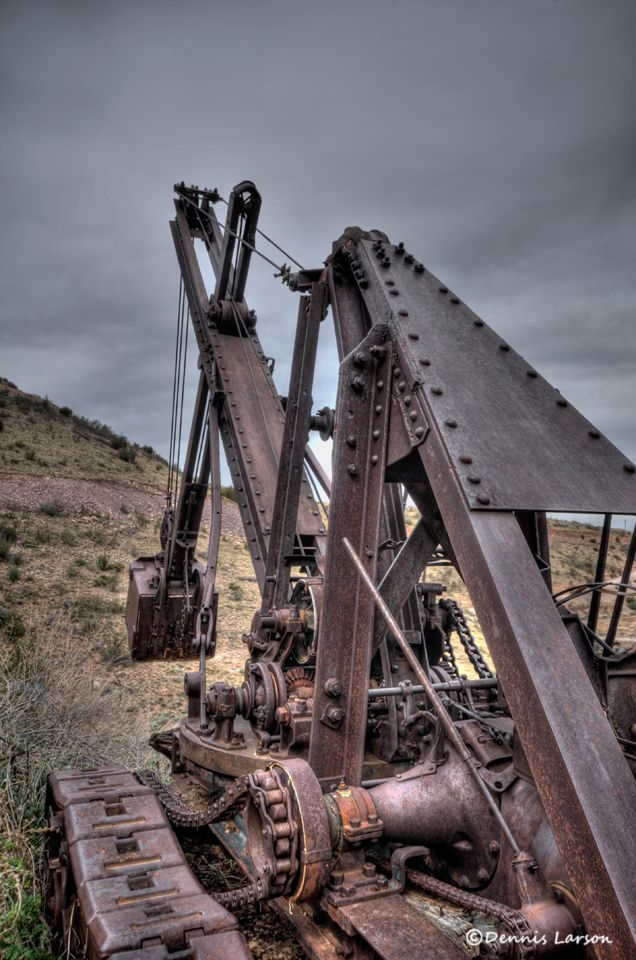 Jerome Mining Equipment~Jerome, Az.  historic old mining town.